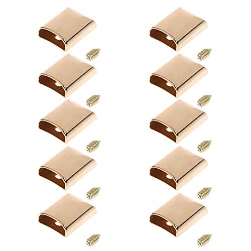 バッグ、アクセサリー 10ピースレザークラフト DIY.金属のジッパーテールクリップバックルストップテールプラグヘッドツールファスナーバッグアクセサリー名 頑丈 (Color : Gold)