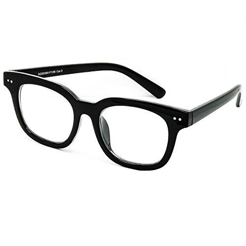 KISS Gafas neutral estilo MOSCOT mod. BOXER - hombre mujer VINTAGE marco óptico FASHION - NEGRO