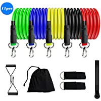 11-Piece Mingyuan Portable Exercise Resistance Band with Door Anchor Set