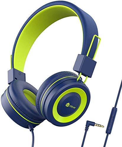 Kopfhörer Kinder - Kopfhörer für Kinder, verstellbares Stirnband, Stereo Sound, Faltbare, entwirrte Drähte, 3,5 mm Aux Jack, 85dB Volume Limited, KinderKopfhörer auf Ohr