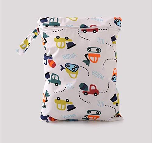 Wiederverwendbare Babywindeltasche Waschbare Babytuch-Nasstasche Wasserdichte Wickeltasche für S?uglingswindeln von