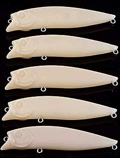 Aneew Lot 30pcs Unpainted Popper Blank Fishing Lure Bait 3 1/2 Inch 1/3 Oz Wholesale
