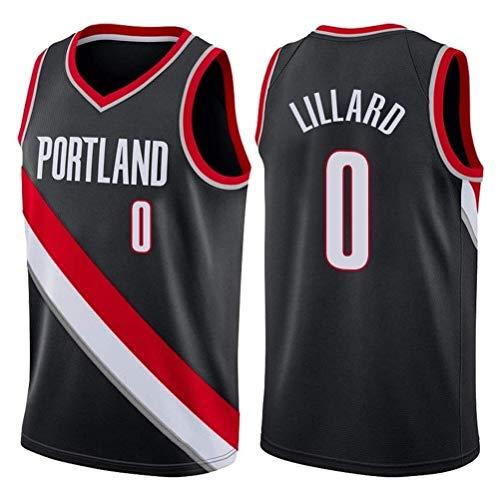 Rencai Damian Lillard # 0 Herren-Basketball Jersey, Portland Trail Blazers New Stoff Swingman Trikots (Color : 3, Size : XL)