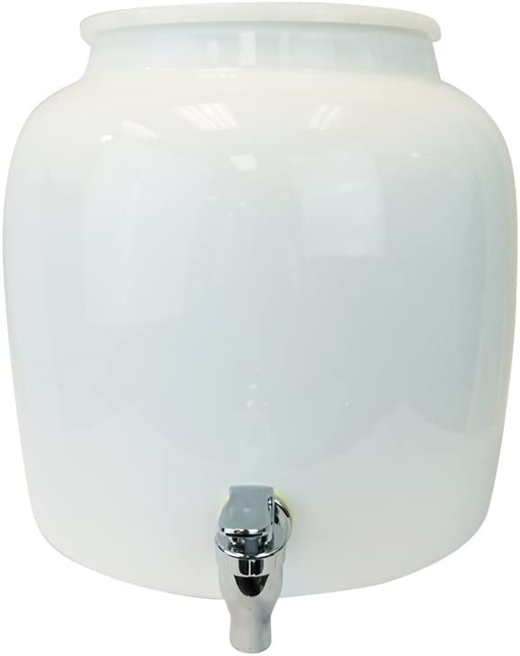 Porcelain Water Dispenser Crock - Gallons Comes 2.5 Ring free with Weekly update
