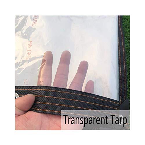 AOTNZ Transparente Lonas- Impermeable Tarea Pesada PE Hoja De Lona De Plástico con Ojales Y Tie-Downs Resistente Al Clima Funda para Muebles De Jardín 150 G/M², 24 Tamaños,Clear,4x5m