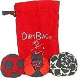 Dirtbag Medley Footbag Hacky Sack 3 Pack - Red/Black