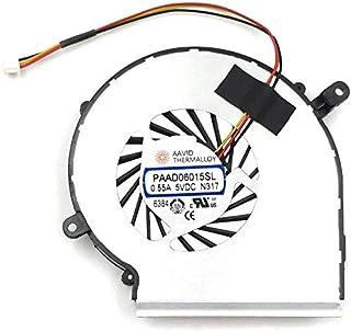 BAY Direct PAAD06015SL - Ventilador de refrigeración para ordenador portátil MSI GE62 GE72 PE60 PE70 GL62 GL72 (compatible con el número de pieza: PAAD06015SL)