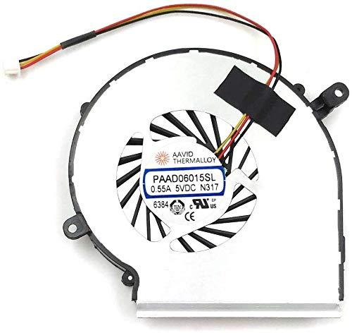 BAY Direct PAAD06015SL - Ventilador de refrigeración para ordenador portátil MSI GE62...
