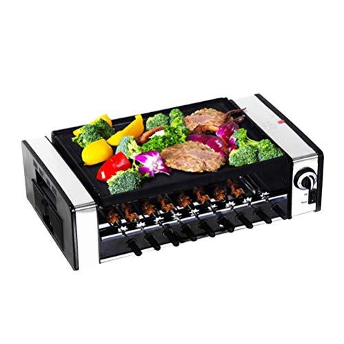 AJH Portátil, automático, sin Humo, Barbacoa eléctrica, Kebab, Parrilla giratoria, Estufa, asador,...