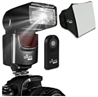 Altura Digital & DSLR Flash with Wide Angle Diffuser and Reflection Board for: Canon Nikon Sony Panasonic Olympus Fujifilm Pentax Sigma Minolta Leica and Any Digital Camera with a Hot Shoe Mount