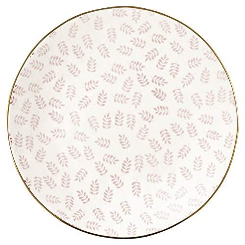 Greengate STWPLALLNN1906 Lianna Assiette à Petit déjeuner Rose 21 cm