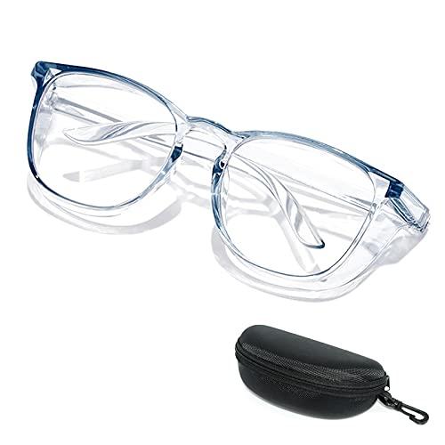 HSYFUNA Schutzbrille Brille, Anti Pollen & Anti Fog Blaulicht Blockierend UV400 Brille Blau