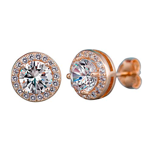 HINK 925 Silver Gold Rose Gold Stud Earrings for Women Fashion Jewelry Earrings Jewelry & Watches For Woman Valentine Easter Gift