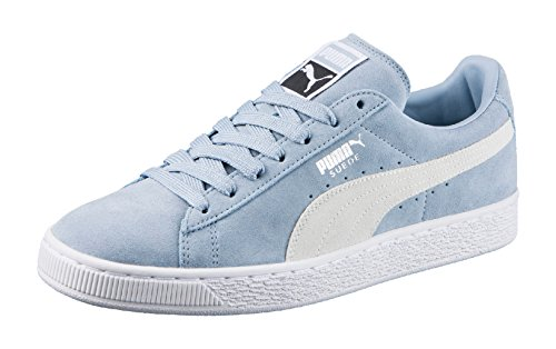 Puma Unisex-Erwachsene Suede Classic + Low-Top, Blau (Blue Fog White 06), 45 EU