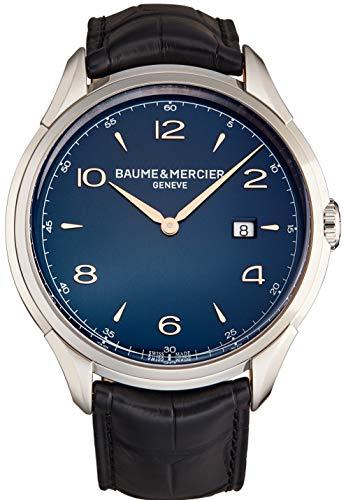 Baume Mercier Clifton 10420 - Reloj de pulsera para hombre, 45 mm, esfera azul
