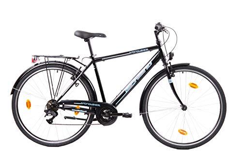 F.lli Schiano Voyager Bicicleta Trekking, Men's, Negro-Azul, 28''