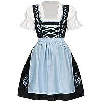 TR Martha - Vestido Dirndl - Cóctel - Manga Corta - para Mujer Azul 38