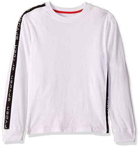 Spyder Jungen Jersey Knit Long Sleeve Graphic Tee Hemd, weiß, XL
