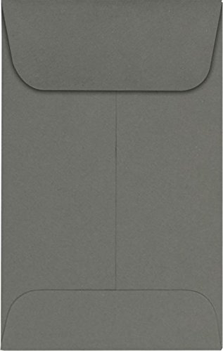 LUXPaper Coin Envelopes, Smoke, 2 1/4-Inch x 3 1/2-Inch, 50-Count