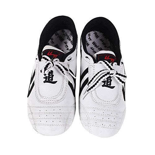 FJJLOVE Scarpe di Arti Marziali, Unisex in Pelle PU Taekwondo Scarpe Leggere Boxe Scarpa da Tennis Scarpe da Ginnastica Kung Fu Taichi per Adulti,A,38