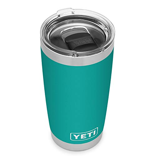 YETI Rambler 20 oz Tumbler, Stainless Steel, Vacuum Insulated with MagSlider Lid, Aquifer Blue
