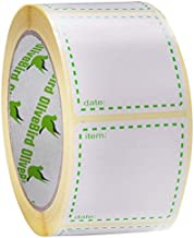 500 Removable Freezer Labels On Roll, Size 2 x 2 Inch Use as Food Labels