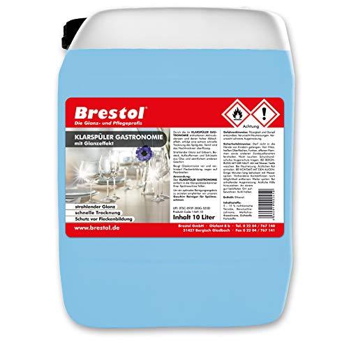 Brestol transparante spoeler gastronomie 10 liter met glanseffect en drogende formule vaatglans voor glas, bestek, kunststof, ovenschaal