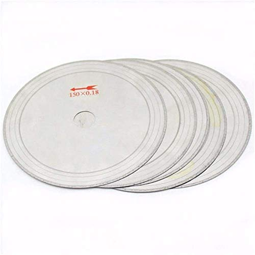 HUAQINEI Hoja de Sierra 10 Uds 0,43 Mm 6 Pulgadas Hojas de Sierra lapidaria de Diamante superfino 150mm x 20mm Disco de Corte de Gemas Hojas de Sierra Circular