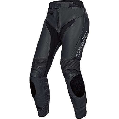 FLM Kombihose Lederkombi Motorradhose mit Protektoren Sports Leder Kombihose 2.2 schwarz/Silber 98 (50 lang), Herren, Sportler, Ganzjährig