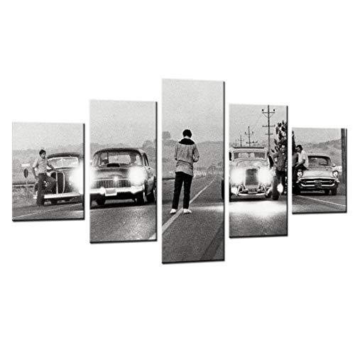 zxkx Moderno HD Impreso Pintura Lienzo Decoración para el hogar 5 Paneles Película Érase una Vez en América Póster Modular Car Pictures 40x60cmx2 40x80cmx2 40x100cmx1