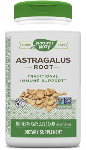 Nature's Way Astragalus Root Capsules, 1,410 mg per serving, TRU-ID...