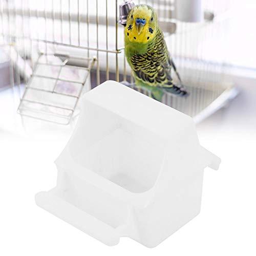 Hffheer Parrot Feeder, 6 Spill-Proof Food Spender mit Perch für Wellensittiche, Papageien, Kleintiere, Hamster, Mäuse, Rennmäuse, 9,2 x 8,9 x 7 cm