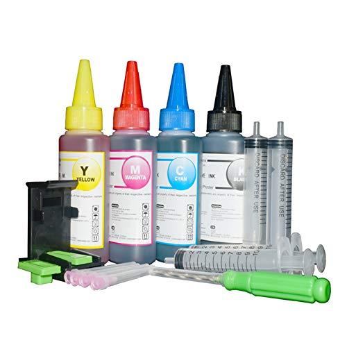 LBLX Soporte de Impresora For Canon 545546 Impresora Tinta Canon PG540 CL541 XL PIXMA MG2950 MG2550 MX495 IP2850 MG2450 MG2550S Accesorios de electrónica (Color : 400ml Ink with Tool)