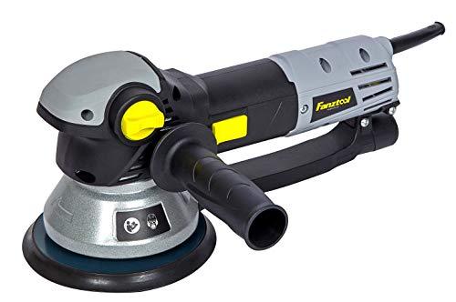 FANZTOOL 710W Poliermaschine Exzenterschleifer 150mm mit Drehzahlregelung, Rotation/Exzenter Umschaltung (Koffer, Sandpapier, Klett-Polierschwamm inklusiv)