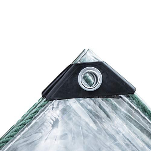 JLDNC Lona Impermeable, Lona Impermeable Toldo reversible para exteriores/PVC para auto Lonas Impermeables Exterior con ojales,Transparent_4.8x4.8 Feet/1.6x1.6m