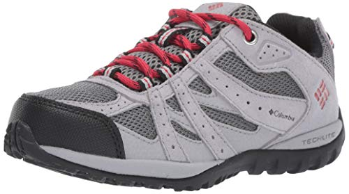 Columbia Garçon Chaussures de Randonnée, CHILDRENS REDMOND, Taille 25, Gris (Ti Grey Steel, Mountain Red)