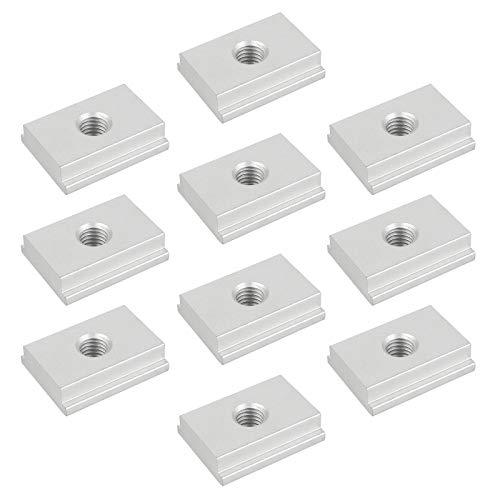 Yangfei 10 Pcs Dadi a T M8 in Alluminio Dado del T-Scanalatura Dadi Scorrevoli M8 per Maschere Strumento di Lavorazione del Legno Vite Slot di Fissaggio