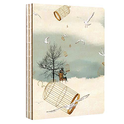 cuadernos de notas Prima de libro del bosquejo B5, con espiral de notas Bloc de notas del diario del planificador portátil con forro de papel, lápiz de color, de carbón for dibujar blocs de notas
