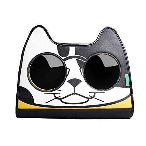 Pet Carrier Pet Rugzak voor outdoor reizen mode dubbele schoudertas (40 cm x 20 cm x 36 cm) geel