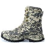 RatenKont Hombres Camuflaje Zapatos Senderismo al Aire Libre Botas Caza Trekking tácticas Nailon Impermeables Khaki 8