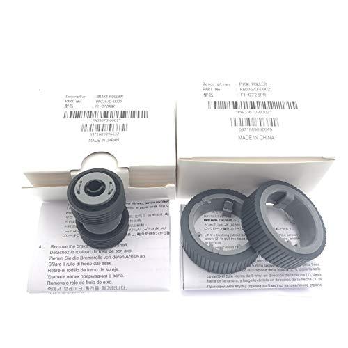 OKLILI Brake Roller Pick Pickup Roller Set Compatible with fi-7160/fi-7260/fi-7140/fi-7240/fi-7180/fi-7280 fi-7300NX P/N:PA03670-0001 PA03670-0002
