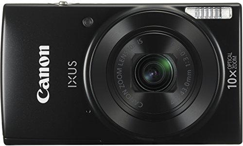 "Canon IXUS 180 - Cámara Digital compacta de 20 MP (Pantalla de 2,7"", Zoom óptico de 10x, NFC, WiFi), Color Negro"
