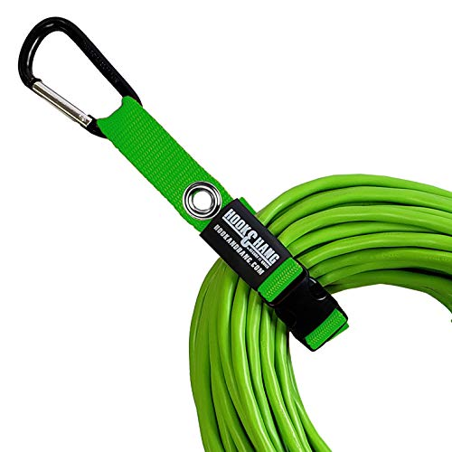 SECURE IT QUICK - Hook Hang Strap Storage Organizer - Hang Hoses Cords Tools Drills Ladders More Another Incredible Organizer 4 PK WHooks HI-VIS Green