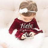 ジュルイライフ SXY赤ちゃんクリスマススタイルの手紙パターンロングトランペットスリーブジャンプスーツロンパース、キッドサイズ:100センチメートル