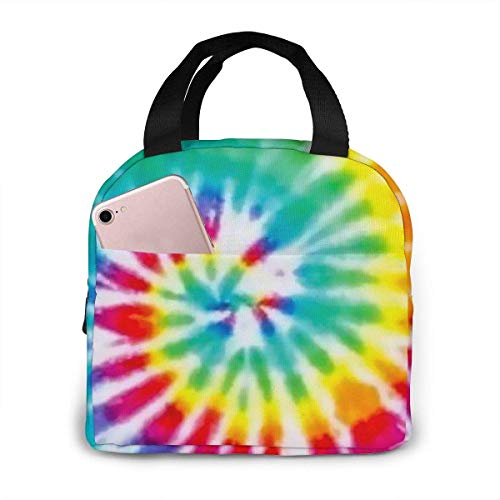 Colorful Tie Dye Lunch Bag Reusable Lunch Box Lunch Cooler Tote