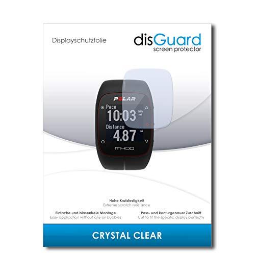 disGuard Displayschutzfolie für Polar M400 [3 Stück] Crystal Clear, Kristall-klar, Unsichtbar, Extrem Kratzfest - Displayschutz, Schutzfolie, Glasfolie, Panzerfolie