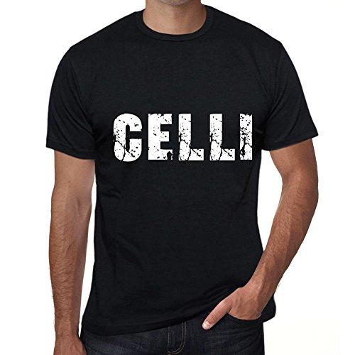 Celli Herren T Shirt Schwarz Geburtstag Geschenk 00553