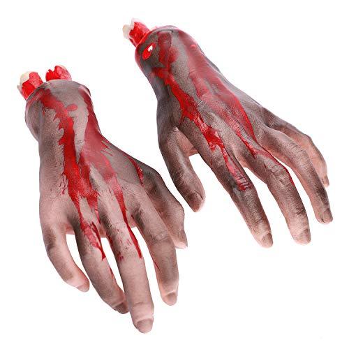 Decoración de partes del cuerpo roto para Halloween, terror, sangriento, brazos separados para Halloween, accesorio realista terrible, juegos de disfraces, fiesta temática, dedo, zombie, vampiro