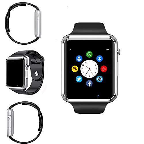 Smart Watch,Sportuhr Smart Watch Fitness Tracker mit Schrittzähler Schlafanalyse 1,54 Zoll Touchscreen, Kamera, SMS Facebook vibrationskompatibles Android-Handy für Männer und Frauen