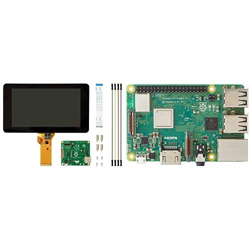 Raspberry Pi 2473872 Pantalla táctil V2, 8MP, 7 Pulgadas + Raspberry Pi Spain 3 Model B+ Placa de Base